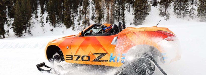 """370Z Roadster """"snowmobile"""" 332 ίππων (Video)"""