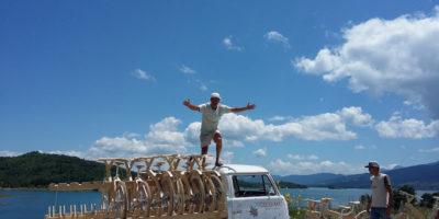 Από την Γαύδο στο Βόρειο Ακρωτήρι με ξύλινο Ελληνικό ποδήλατο