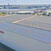 Η Nissan  θέτει σε λειτουργία μεγαλύτερη οροφή με συλλέκτες ηλιακής ενέργειας