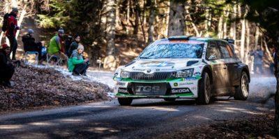 Η SKODA Fabia R5 στη 2η θέση της WRC 2 Pro στο Μόντε Κάρλο