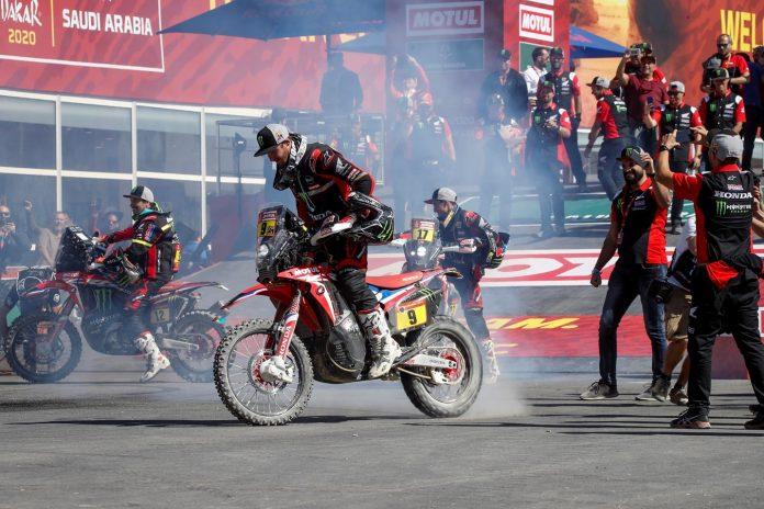 Ricky Brabec honda 2020 Dakar Rally 01