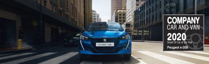 Company Car and Van Awards 2020 Peugeot e-208